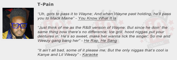 T-Pain Shouts Out Lil Wayne