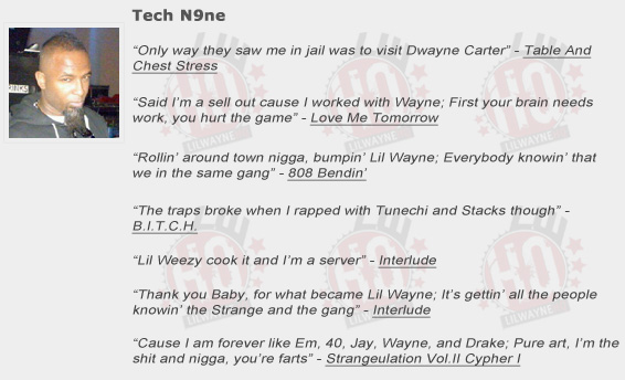 Tech N9ne Shouts Out Lil Wayne