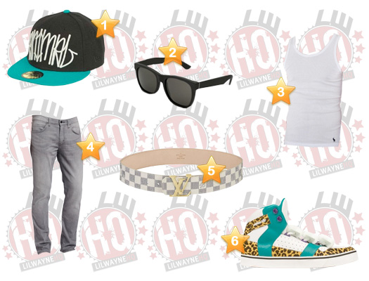 Lil Wayne 2011 BET Awards Clothes List