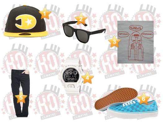Lil Wayne 2011 Club Compound Clothes List