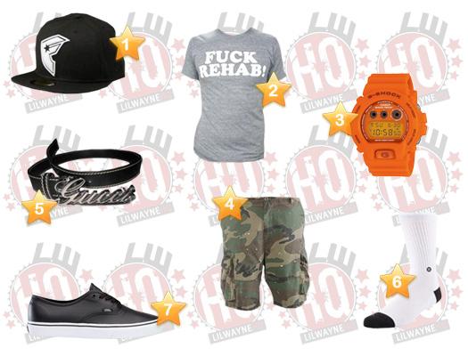 Lil Wayne Dolce Ultra Lounge Clothes List