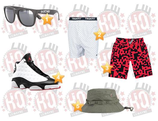 Lil Wayne High School Video Clothes List