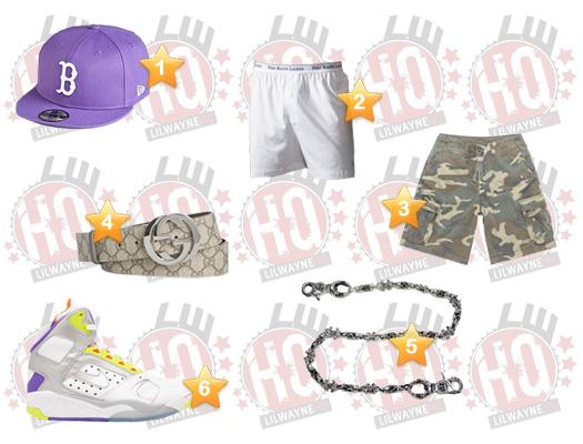Lil Wayne Hot 107.9 Birthday Bash Clothes List
