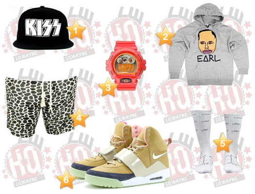 Lil Wayne Miami Heat vs Atlanta Hawks Clothes List