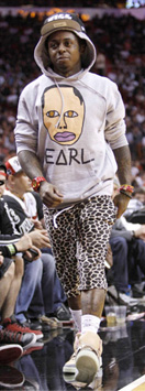Lil Wayne Miami Heat vs Atlanta Hawks Style