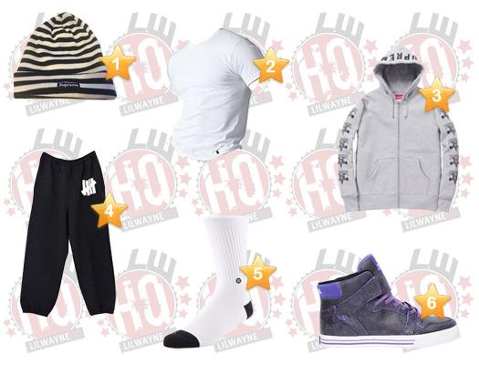 Lil Wayne Midtown Skate Park Clothes List
