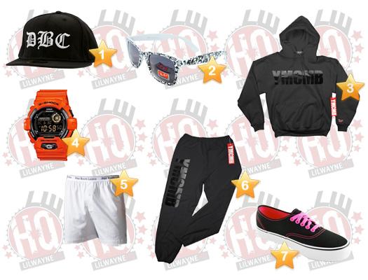 Lil Wayne Sydney Concert Clothes List
