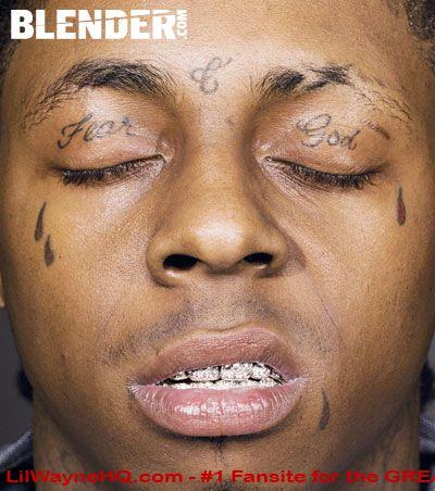 Lil Wayne Face Tattoos His 4 tear drops which are for the people who have